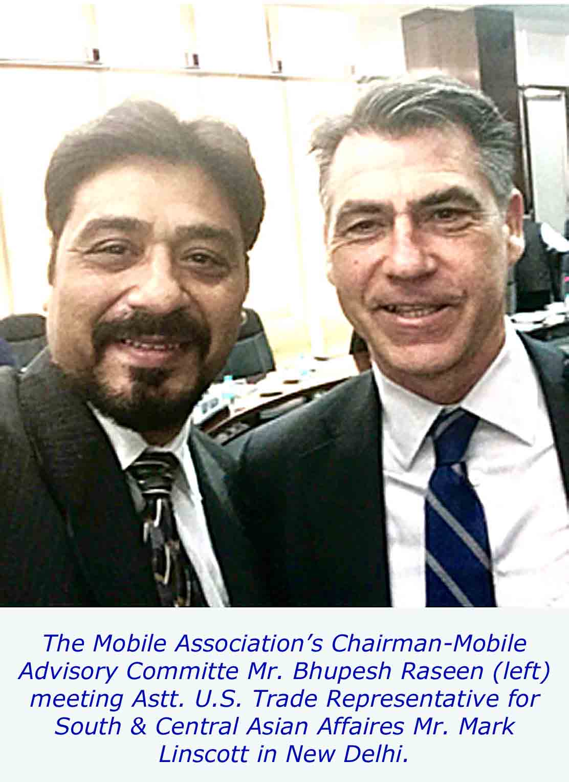 TMA News of The Mobile Association Meeting with the Astt. U.S. Trade Representative for South & Central Asian Affaires Mr. Mark Linscott
