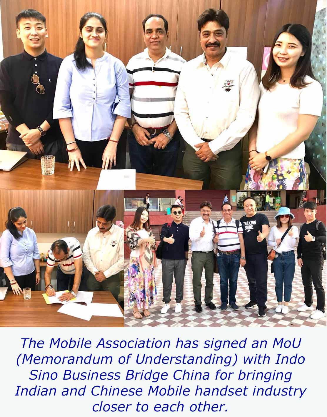 The Mobile Association signs MoU with Indo Sino Business Bridge China